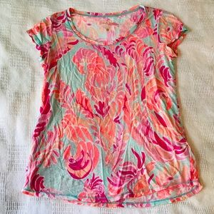 Lilly Pulitzer Sarah Top in Love Birds Print